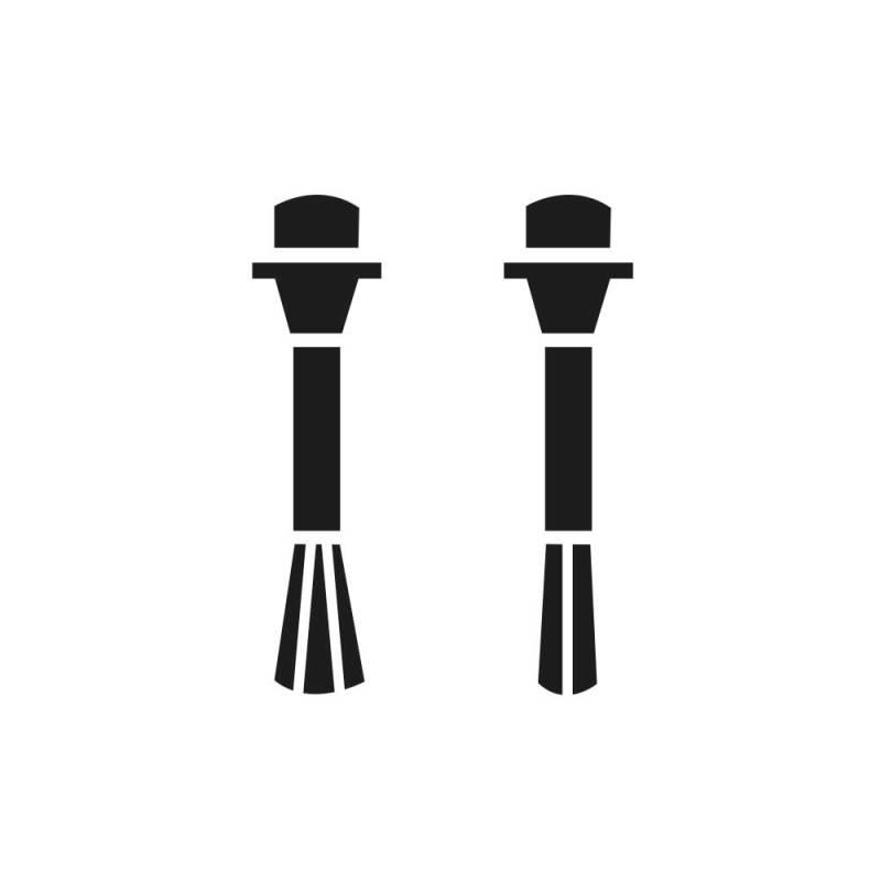 OZN Ersatz-Pinselset 1#: 1 x breiter Pinsel & 1 x schmaler Pinsel