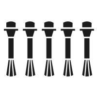 OZN Ersatz-Pinselset 2#: 5 x breiter Pinsel