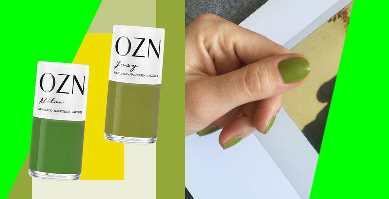 OZN Nagellack Trend ist die Farbe Grün