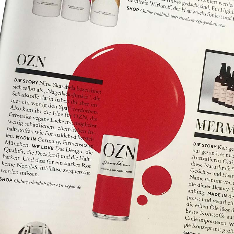 Design Len München press vegan and non toxic nail at the ozn shop